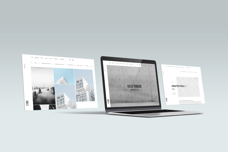Maísa Trindade Arquitectos - Website MockUp