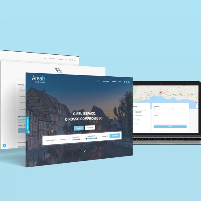 ÁreaB - Website MockUp
